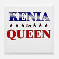 KENIA for queen Tile Coaster