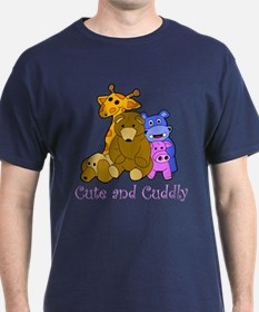 Cute and Cuddly Animals Pink T-Shirt