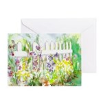 Garden Gate Birthday Card