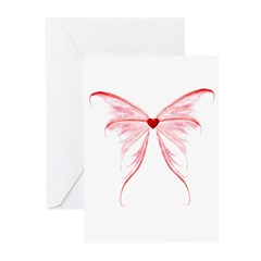 winged heart Greeting Cards (Pk of 10)