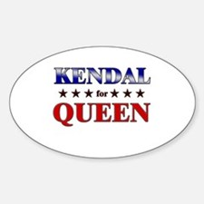 KENDAL for queen Oval Decal