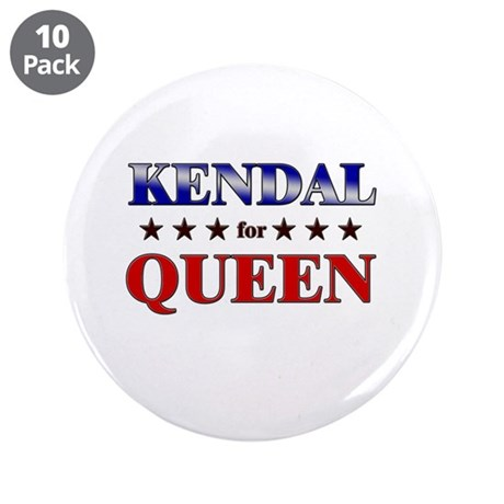 "KENDAL for queen 3.5"" Button (10 pack)"