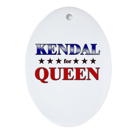 KENDAL for queen Oval Ornament