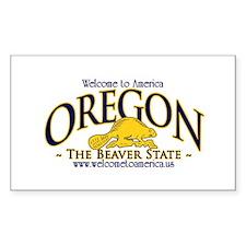 Oregon Rectangle Decal