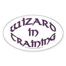 Wizard in training Oval Decal