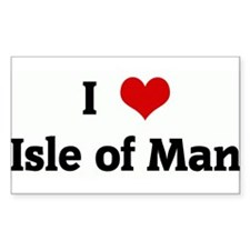 I Love Isle of Man Rectangle Decal