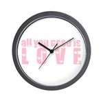 all you need is love Wall Clock