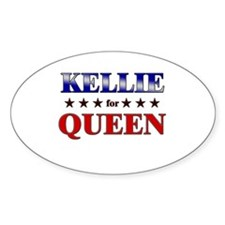 KELLIE for queen Oval Decal
