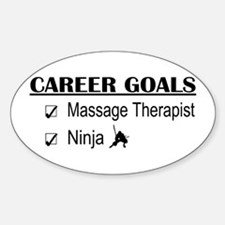 Massage Therapist Career Goals Oval Decal