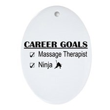 Massage Therapist Career Goals Oval Ornament