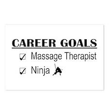 Massage Therapist Career Goals Postcards (Package