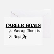 Massage Therapist Career Goals Greeting Cards (Pk