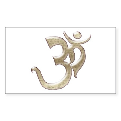 Silver OM Rectangle Sticker