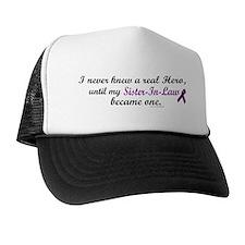 Never Knew A Hero SISTER-IN-LAW (Purple) Trucker Hat