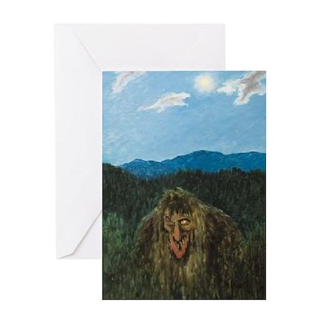 ge-kittlesonforesttroll_5x7 Greeting Cards