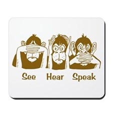 See No Evil Monkey Mousepad