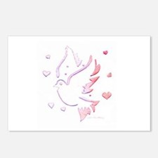 Dove Carved Pink Postcards (Package of 8)