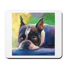 Boston Terrier Dog #11 Mousepad