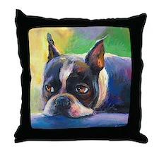 Boston Terrier Dog #11 Throw Pillow