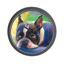 Boston Terrier Dog #11 Wall Clock
