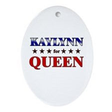 KAYLYNN for queen Oval Ornament