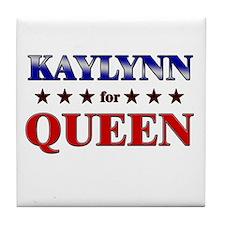 KAYLYNN for queen Tile Coaster