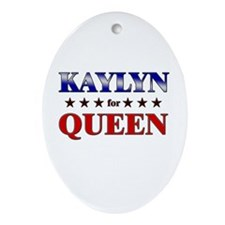 KAYLYN for queen Oval Ornament