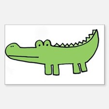 """allie gator"" Rectangle Decal"