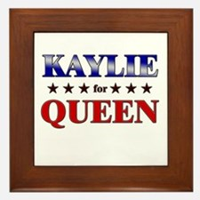 KAYLIE for queen Framed Tile