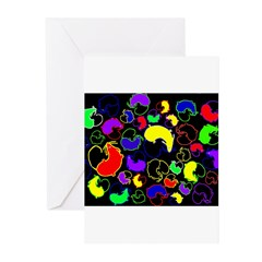 Jelly Bean Mice Gifts Greeting Cards (Pk of 10)