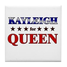 KAYLEIGH for queen Tile Coaster