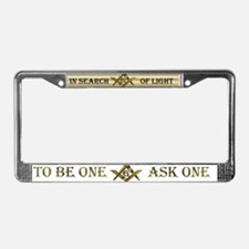 In search of light License Plate Frame