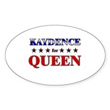 KAYDENCE for queen Oval Decal