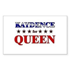 KAYDENCE for queen Rectangle Decal