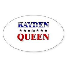 KAYDEN for queen Oval Decal