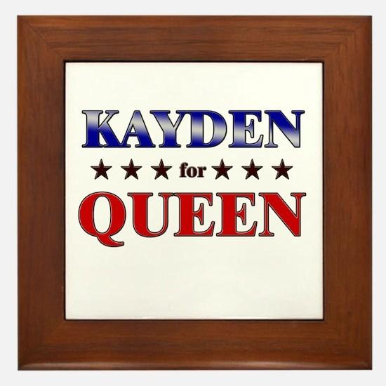 KAYDEN for queen Framed Tile