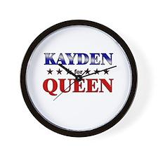 KAYDEN for queen Wall Clock