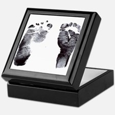 """footprints"" Keepsake Box"