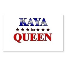 KAYA for queen Rectangle Decal