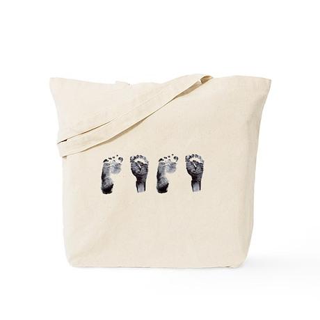 """twin footprints"" Tote Bag"