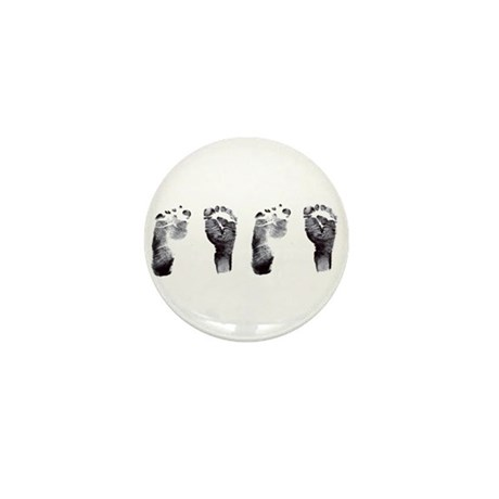 """twin footprints"" Mini Button"