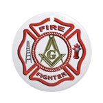 Masonic Fire Fighter Keepsake (Round)
