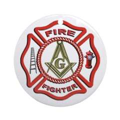 Masonic Fire Fighter Keepsake (Round)
