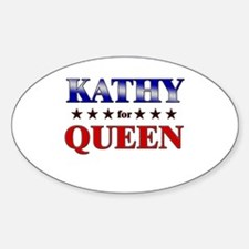 KATHY for queen Oval Decal