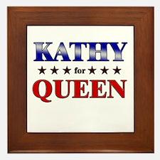 KATHY for queen Framed Tile