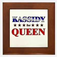 KASSIDY for queen Framed Tile