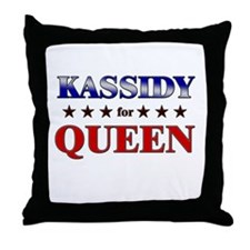 KASSIDY for queen Throw Pillow
