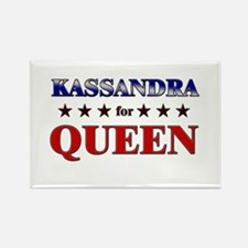KASSANDRA for queen Rectangle Magnet
