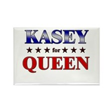 KASEY for queen Rectangle Magnet