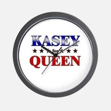 KASEY for queen Wall Clock